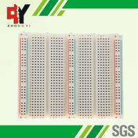 China Educational Electronic Circuit Breadboard 3 Distribution Strips With Lines wholesale