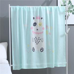 China Summer Bath Muslin Swaddle Blankets Custom Design Waterproof Eco Friendly on sale