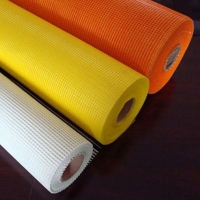China Different colors soft fiberglass self - adhesive mesh used for EPS wholesale