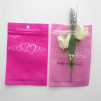 Quality Resealable Cosmetic Packaging Bag Pink Eyelash Earrings Necklace Jewelry Zipper for sale