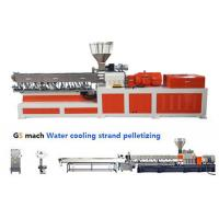 China Electrical Control  PP ABS Double Screw Extruder Water Strand Pelletizing Line wholesale