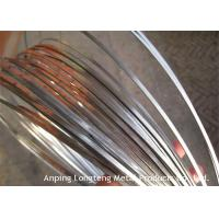 China High Tensile Flat Steel Wire For Weaving Mesh Light Weight OEM / ODM Available on sale