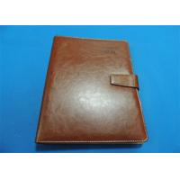 China Personalized 1 Color Leather Bound Book Printing A4 B5 With Gloss Lamination wholesale