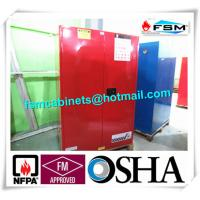 China 90 GAL Safety Fireproof Paint Storage Cabinets Dual Vents For Industrial / Chemical wholesale