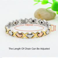 China 2016 fashion jewlery 18k gold 316L stainless steels charm bracelet,bio jewelry,Girl