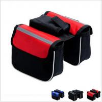 China bicycle bag double bicycle bag cycling bicycle frame pannier bike front tube bag wholesale