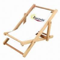 China Wooden Children Fold Beach Chair, Various Colors are Available wholesale