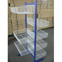 China Two sided wire display racks with 10 wire shelves, adjustable feet for supermarket goods on sale
