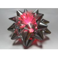 China 10CM Dia Metallic LED Ribbon Bow for gift decorations , Pink Blue Silver Star Bow wholesale