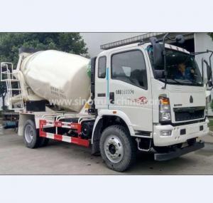 China 6 Wheels Concrete Mixer Vehicle / 3M3 Mix Concrete TruckEngine YC4D130-45 Euro4 130HP wholesale