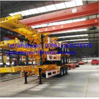 China good price container chassis 20ft 40ft skeletal trailer on sale wholesale