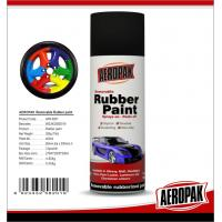 China Black 400ml Rubber Based Spray Paint High Gloss Fast Drying And Easy To Remove wholesale