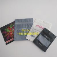 China Front Matte Cosmetic Packaging Bag Clear Colored Foil Mylar Zip Lock Make Up Brush Package wholesale