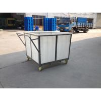 China K300   Rotationally Moulded linen laundry trolley for textile industrial wholesale