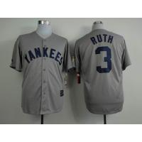 China mlb new york yankees 3 Ruth grey 75th Hall of Fame patch wholesale