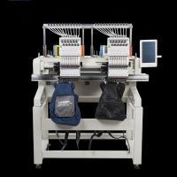 China Flat / T Shirt  / Shoes Double Head Embroidery Machine Like Brother Embroidery Machine wholesale