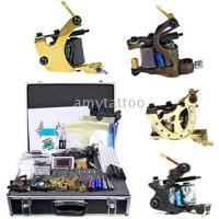 China NEW TATTOO KIT 4 GUN MACHINE COMPLETE POWER NEEDLE TIPS CD INK CUP on sale