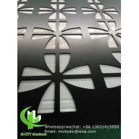 China Hollow Laser Cut Aluminium Screens Fence Decoration Perforated Pvdf Painted wholesale