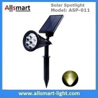 China Solar Spotlights 7 LED Changing Color Garden Solar Lights Outdoor Bright Dark Sensing Auto On/Off In-ground Light wholesale