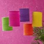 China Spring Lampion Paper Lanterns Craft , Outdoor Hanging Paper Candle Lanterns 10 X 15 Cm wholesale
