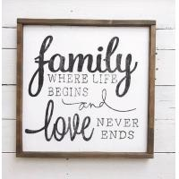 China Family Love Words Wood Signs Home Decor , Personalized Wooden Signs For Home wholesale