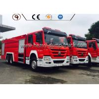 China 6X4 4x2 336 Hp Power Howo Firefighter Truck With Foam Tank And Water Tank wholesale