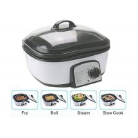 China Slow Small Electric Multi Cooker Glass Cover With Stainless Steel Steamer Rack wholesale
