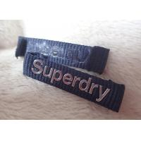 China Superdry 3D High Frequency Silver Logo Clothing Neck Label For Jackets wholesale