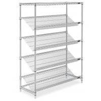 China Home  Commercial Wire Shelving 5 Tiers Include Horizontal  Silver Color wholesale