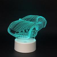 Buy cheap 3W Unique 3D Illusion Night Light / Portable 3 D Lamp For Home Decor Gift from wholesalers