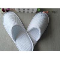 China Customized White Waffle Slippers , Hotel Closed Toe Slippers DS-016 wholesale