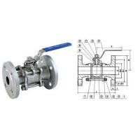 China 3/4 Inch 150LB SS304 Full Bore 3PC Flanged Ball Valve With ISO 5211 wholesale