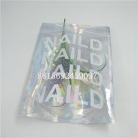 China Holographic Laser Aluminium Foil Bag Custom Logo Printing Zipper Top For Eyelash wholesale