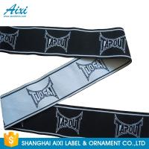 China fashion customized printed jacquard elastic waist band for underwear printed elastic ribbon wholesale