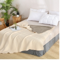 China EMF protection 100%silver thicken knit fabric for anti-EMF blanket 60DB wholesale