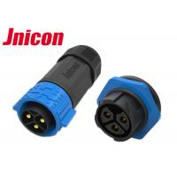 China 30A 500V Waterproof Power Connector , Jnicon Panel Mount Power Connector wholesale