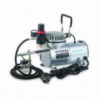 Buy cheap Low-noise Airbrush Compressor for Cosmetic Use, 1/8-inch BSP/NPT Connection, CE from wholesalers