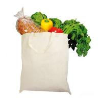 China Basic Eco Friendly Cotton Shopping Tote , Promotional Reusable Grocery Bags on sale