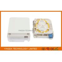 China FTTH Fiber Optic Terminal Box LC Duplex Connectors With Transparent Cover on sale