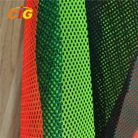 China Yellow / Orange / Red 100% Polyester Mesh Fabric For Reflective Safety Vests on sale