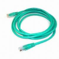 China Green CAT 5e Ethernet Cable with UTP, PVC Insulation, Stranded, UL 444 Standard, 100MHz Frequency wholesale