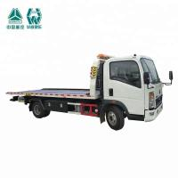 China LHD Flat Bed Wrecker Tow Truck For Moving Indisposed Motor Vehicles 7600X2500X2650mm wholesale