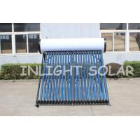China Heat Insulation Integrated Pressurized Solar Water Heater 240L 24 Tubes For Flat Roof on sale