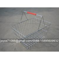 China Convenient Metal Shopping Baskets , Supermarket / Grocery Store Baskets wholesale