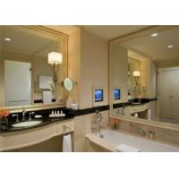 China Flat Shape Double Sided Mirror Glass 1.8mm - 19mm Thickness For Bathroom wholesale