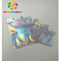 China Plastic Stand Up Cosmetic Packaging Bag Hologram Zipper Packing Customized Size wholesale