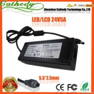 China 24v 5a Lcd Monitor Printer Ac Adapter Dc Power Supply Charger wholesale