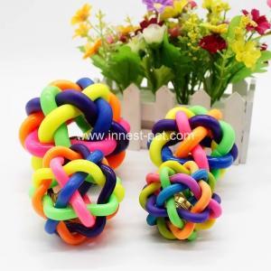 China 2018  wholesale China pet toys rainbow plastic dog toy ball for pet dogs wholesale