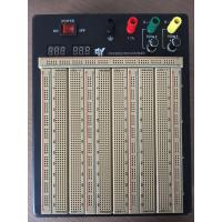 China 2420 Points Colored Coordinates Brown Power Supply Breadboard With Metal Case wholesale