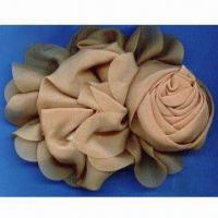 China Elegant Flower Clothing Accessory, Made of Satin Material, Available in Various Colors wholesale